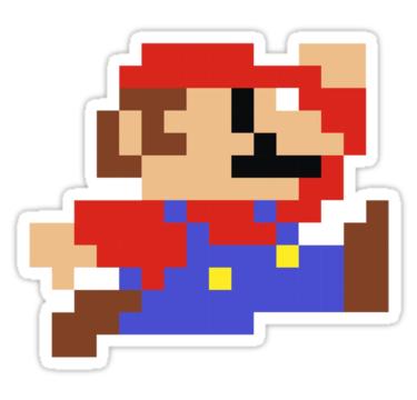 8 Bit Mario Nintendo Jumping By Astropop Pixel Art Mario Mario Nintendo