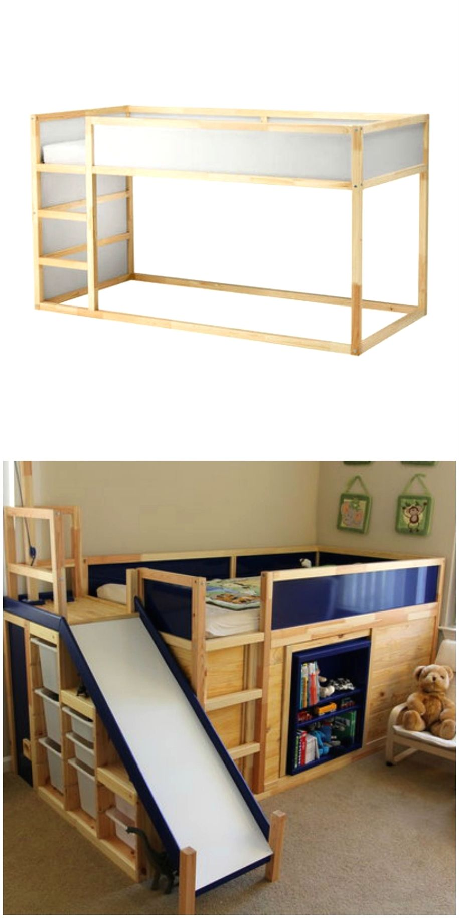 These 37 Ikea Product Hacks Are So Brilliant You Ll Want To Try Them Asap Small Kids Room Ikea Bed Ikea Loft Bed