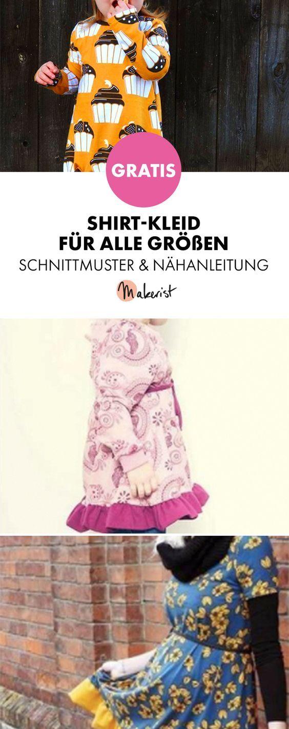 Photo of Gratis Anleitung: Shirt-Kleid für Kinder und Erwachsene nähen – Schnittmuster …