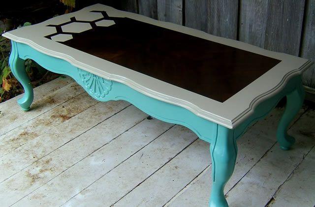 Petits espaces \ petits budgets  customiser de vieux meubles Salons - Peindre Table De Chevet