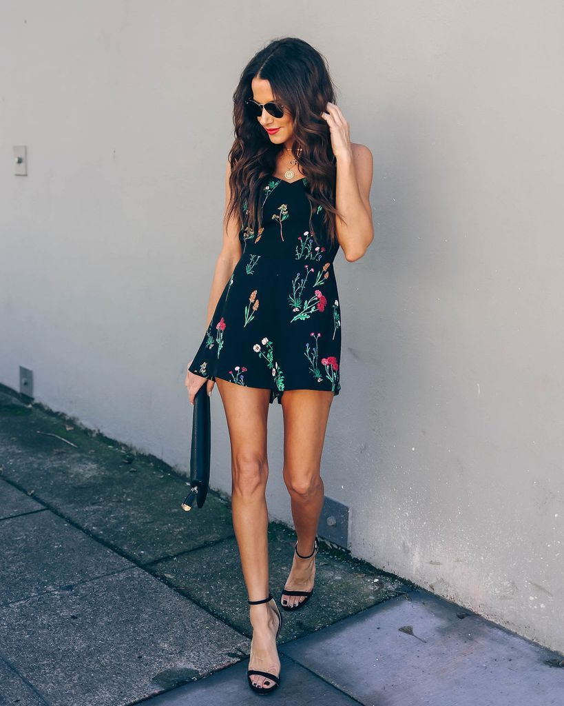 f71dea4f7bdd Click to shop our website or follow us at @VICIDOLLS for all the latest  updates + fashion inspo! She's A Wildflower Floral Romper