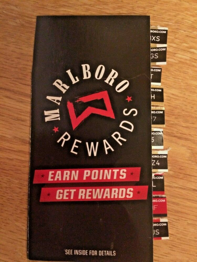 Ten (10) Unused Marlboro Rewards Codes = 1000 points | Kiibta Nuecgo