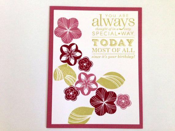 Wife Birthday Card - Birthday Card for Her - Friend Birthday Card - Coworker Birthday Card - Special Birthday Card - Flower Birthday Card
