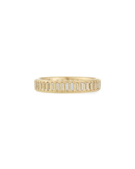 Armenta Old World Sueno White Sapphire Baguette Band Ring dKVNUCMVG