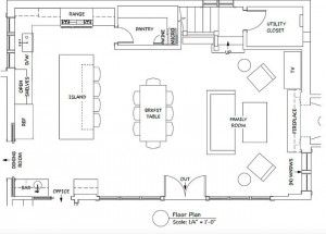 Open Concept Kitchen Layouts open concept kitchen family room floor plan. kitchen floor plan
