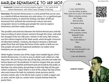 Harlem Renaissance to Hip Hop: Langston Hughes & Tupac Shakur