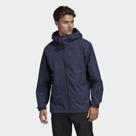 Terrex Swift Rain Jacket Dark Blue Mens   Rain jacket, Black