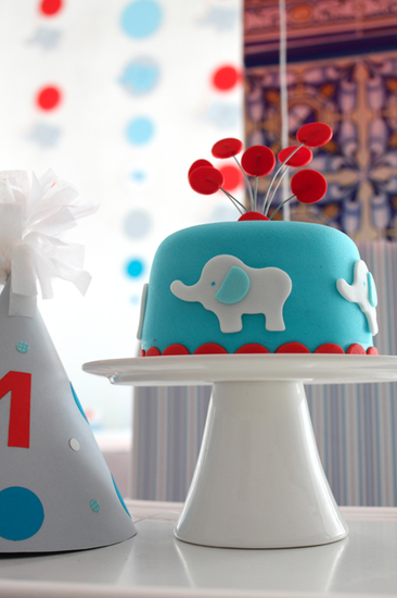 Mod Elephant Can a first birthday party be modern fun and