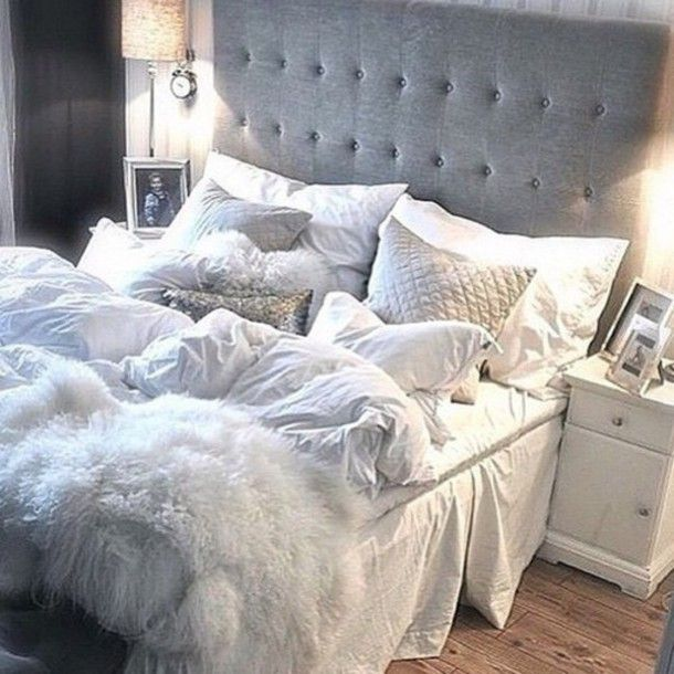 Home Accessory Bedding Tumblr Bedroom The Comforter Decorative Pillows Pillow Grey Blankets Throw Headboard Wheretoget