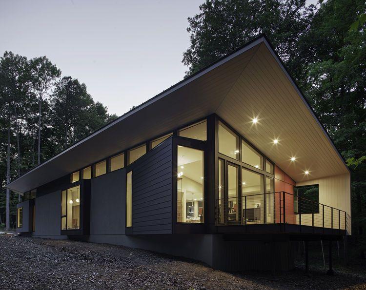 Modern Architecture North Carolina durham, north carolina home with stucco and hardie board exterior