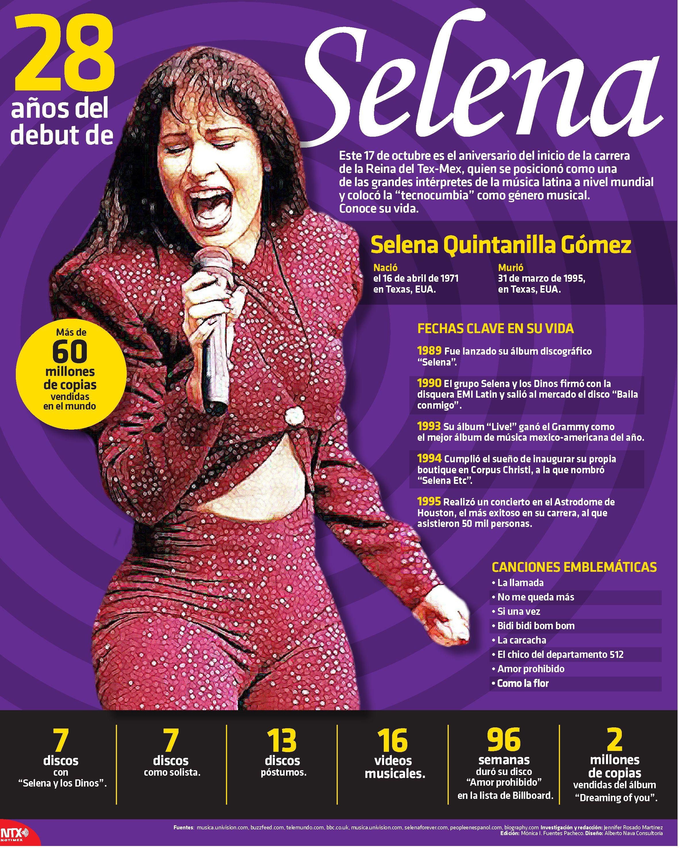 Este 17 De Octubre Es El Aniversario Del Inicio De La Carrera De La Reina Del Tex Mex Selena Infografiantx Selena Heroes De Mexico Ideas De Colegio
