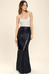 2abd86a69 As Seen On Jessa of @jessakae! Take a trip to the moon and dance among the  stars with the Kickin' Up Stardust Silver Sequin Maxi Skirt!