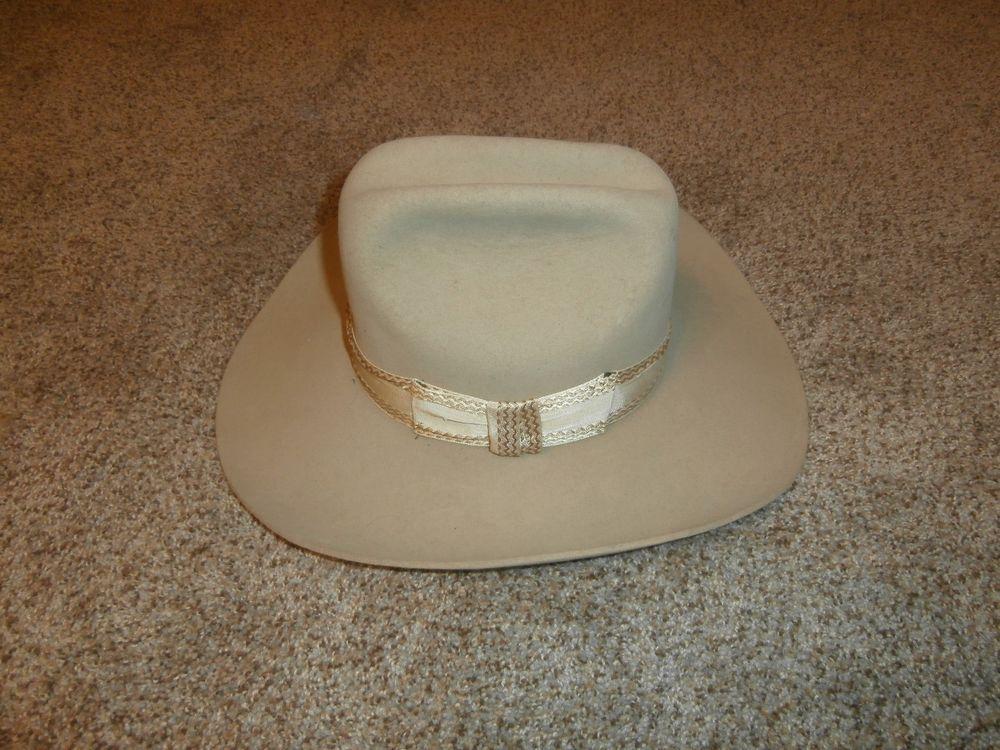 ffaa9a06774 Resistol Stagecoach Vintage Tan Felt Western Cowboy Hat Size 6 7 8 Nigro s  West