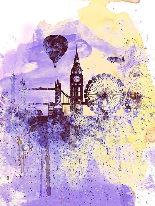 London Watercolor Skyline I Love Art ⭐️ Skyline Art