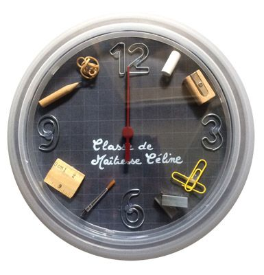 diy une horloge pour la ma tresse id es cadeaux fin d. Black Bedroom Furniture Sets. Home Design Ideas