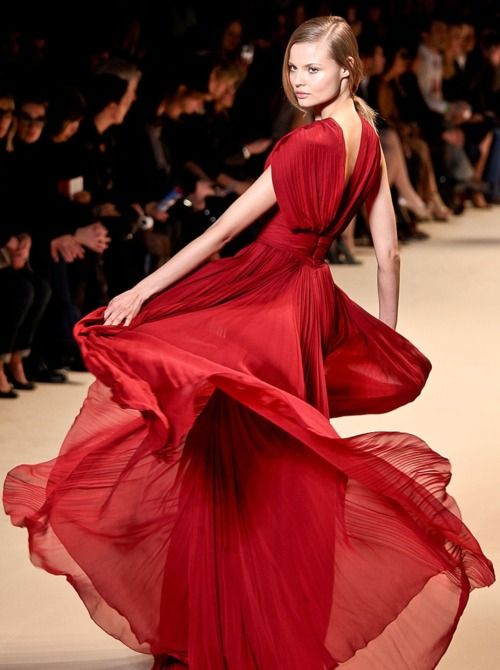 Beautiful runway red gown | Pretty Things I Love | Pinterest | Red ...