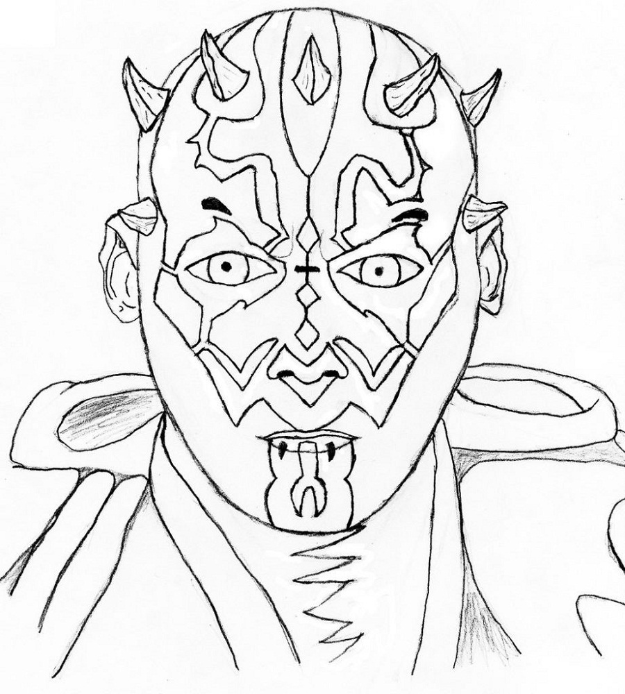 Darth Maul Coloring Pages Coloring Pages For Boys Halloween Coloring Pages Coloring Pages