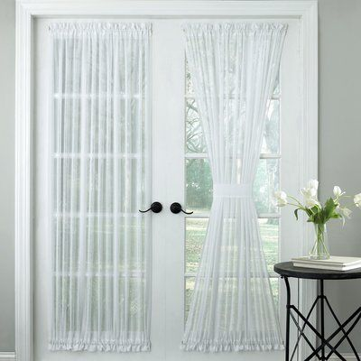 Gracie Oaks Nedlands Micro Stripe Semi Sheer Rod Pocket Single Curtain Panel Panel Curtains Panel Doors Door Curtains