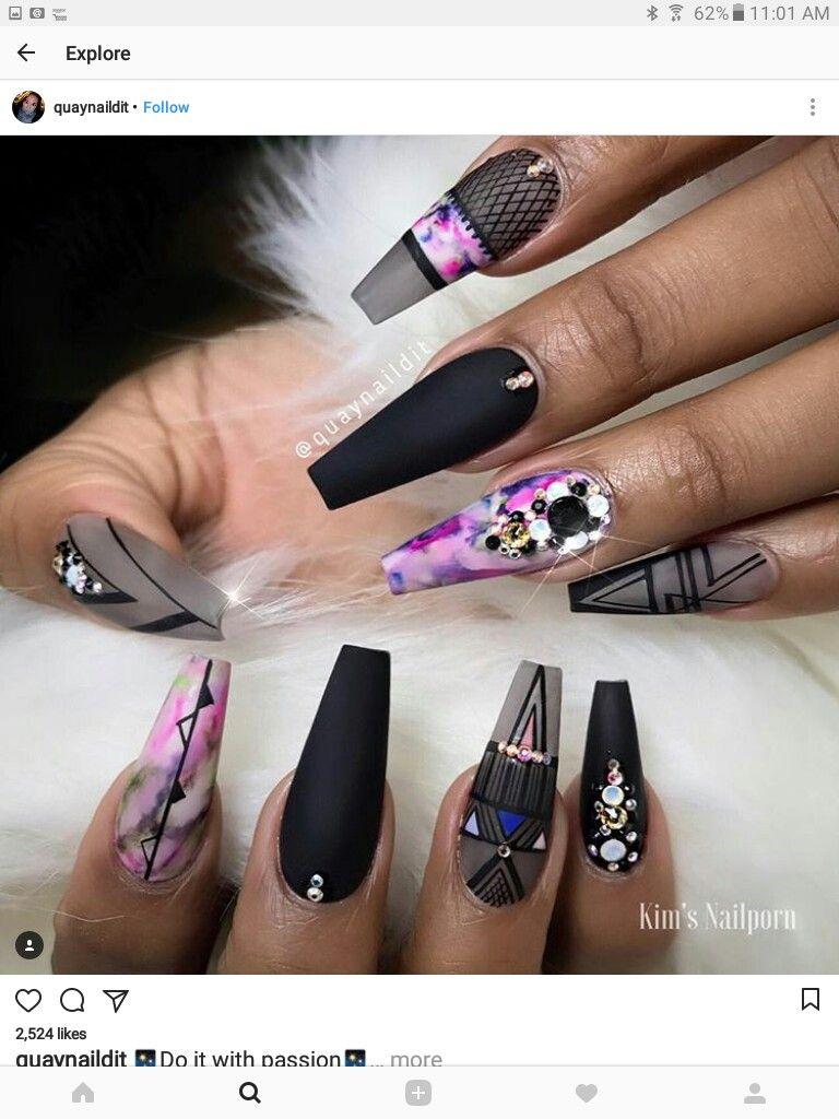Pin de Laura Tejera en nails | Pinterest | Uñas swarovski, Swarovski ...
