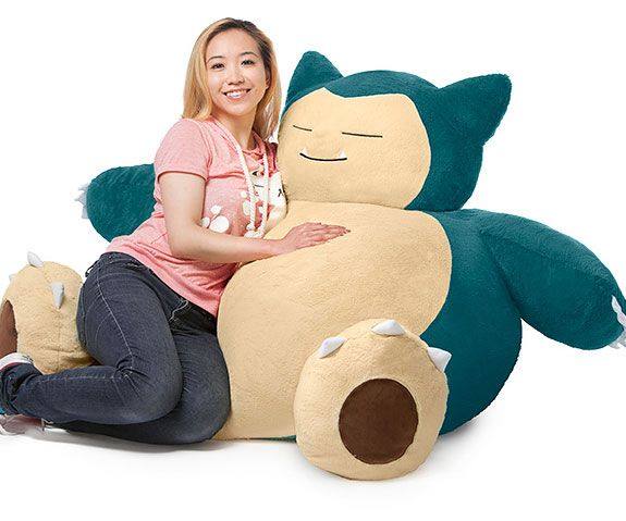 There's no better way to relax after a long arduous day of catching Pokemon than on this Snorlax bean bag chair. Standing nearly 4 feet tall, this cuddly Snorlax's ample and soft 2 foot wide body makes the perfect place to rest your tired bones.