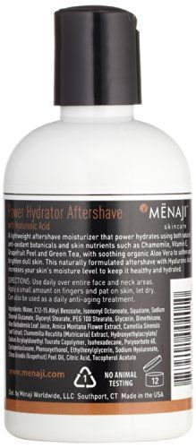 Mënaji Power Hydrator Aftershave with Hyaluronic Acid 118 ml - http://best-anti-aging-products.co.uk/product/menaji-power-hydrator-aftershave-with-hyaluronic-acid-118-ml/