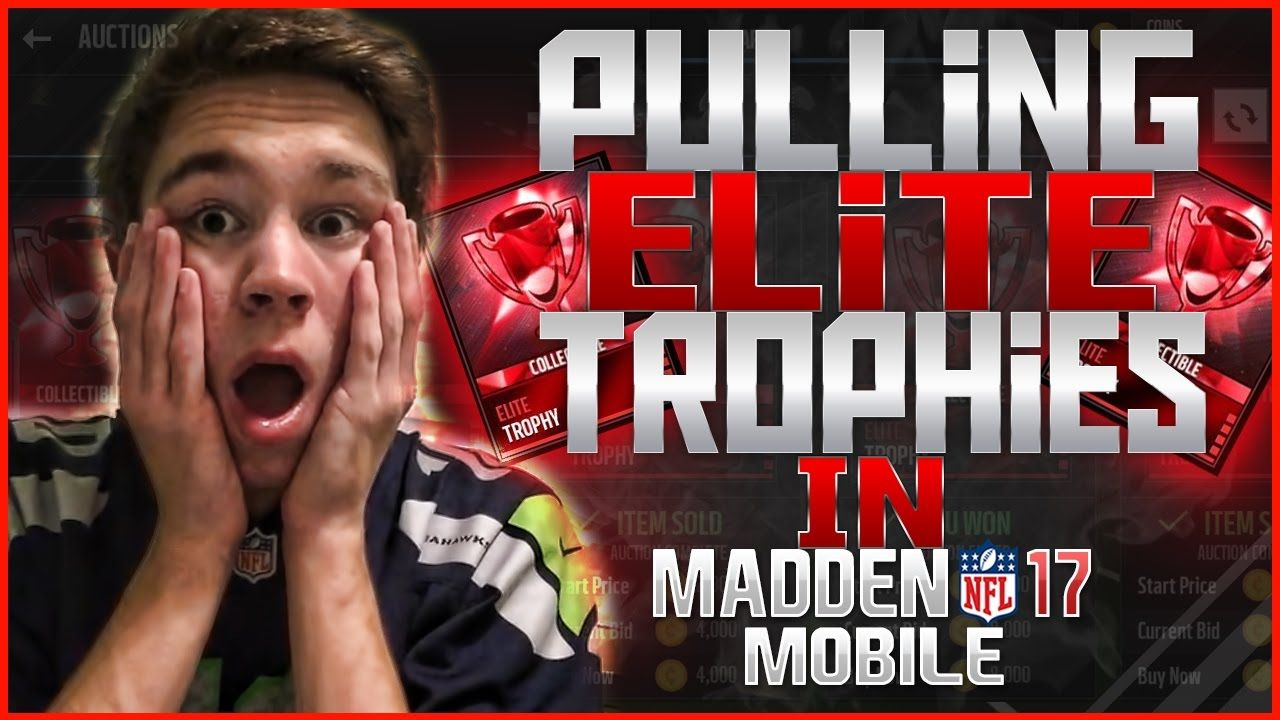 MADDEN MOBILE PULLING ELITE TROPHIES CHANCES! http//www