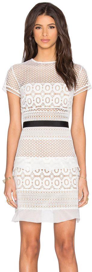 self-portrait Oblique Lace Mini Dress, Cocktail Dress, Kleider ...