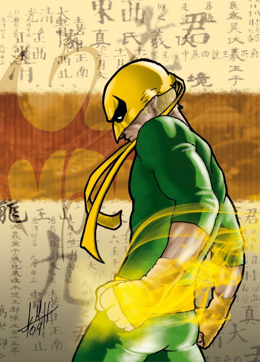 how to draw an iron fist