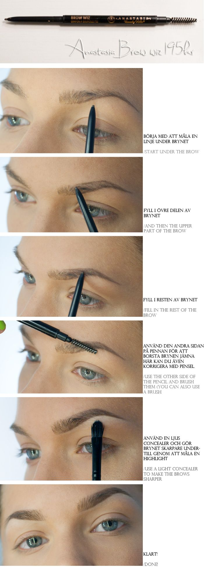 Brows are so important consider cleaning them up a little and anastasia brow wiz baditri Images
