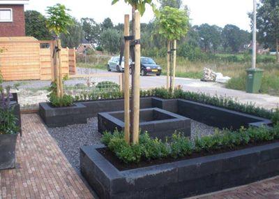 Tuin Aanleggen Voorbeelden : Voorbeeld voor het aanleggen van onze nieuwe voortuin gardens in
