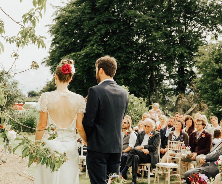 Sarah and Robin's Handmade Back Garden Wedding in North Yorkshire by Patrick Phillips is part of garden Wedding Attire - Sarah and Robin's Handmade Vintage loving Back Garden Wedding in North Yorkshire by Patrick Phillips with a handmade dress and homegrown flowers