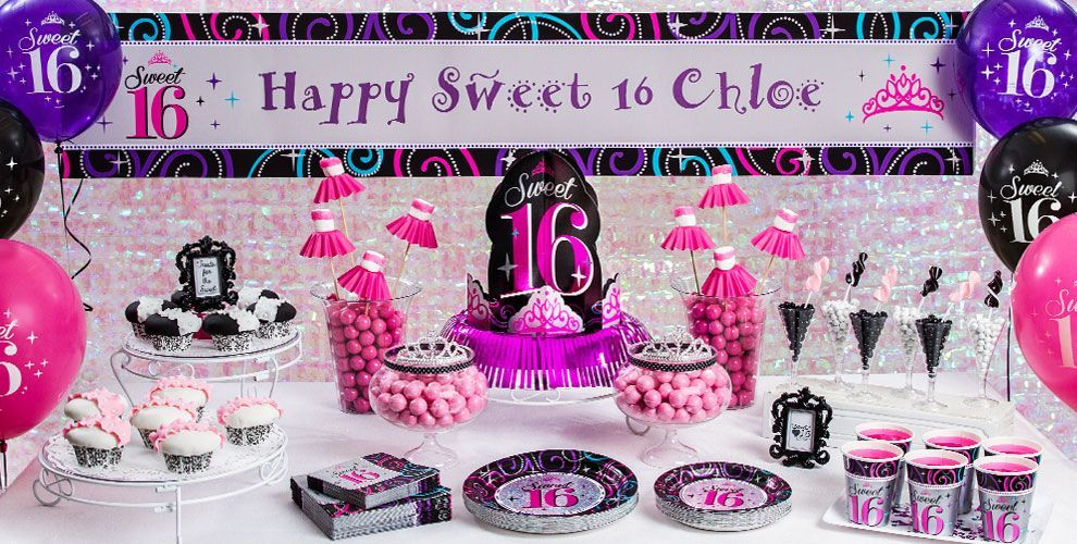 Sparkle Sweet 16 Party Supplies | Party Planning | Pinterest ...