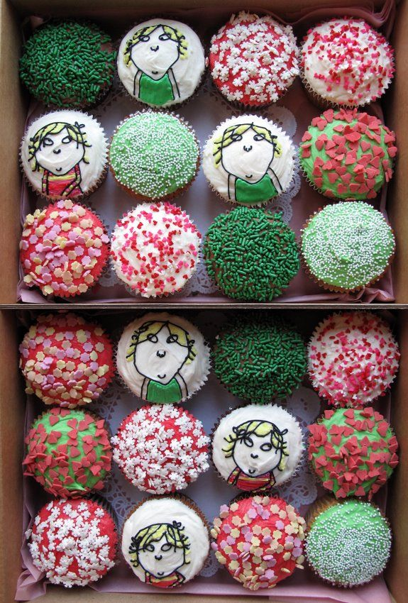 charlie and lola cupcakes. these remind me of my childhood ...