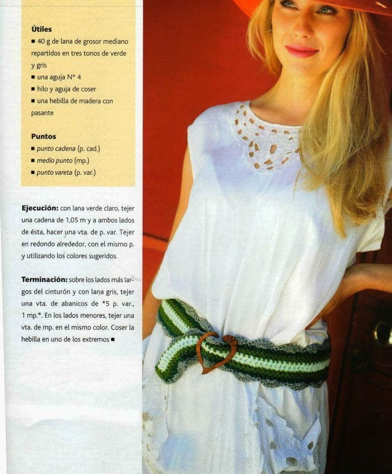 Cinturon Crochet Ondas Instrucciones - Patrones Crochet | Correas ...