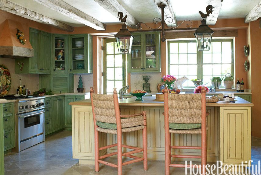 Sweentess <3  http://www.housebeautiful.com/kitchens/dream/french-country-kitchen