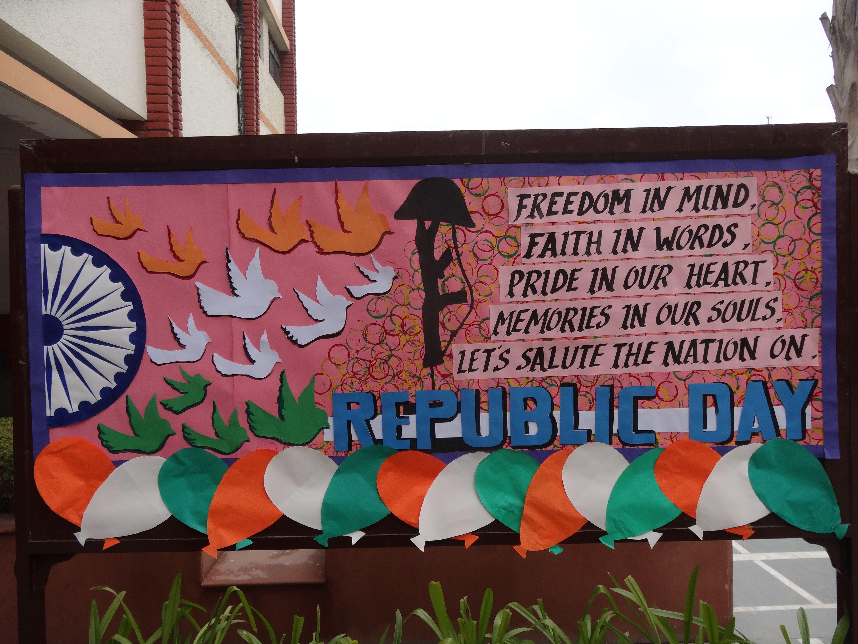 Republic Day Board Notice Board Decoration Republic Day