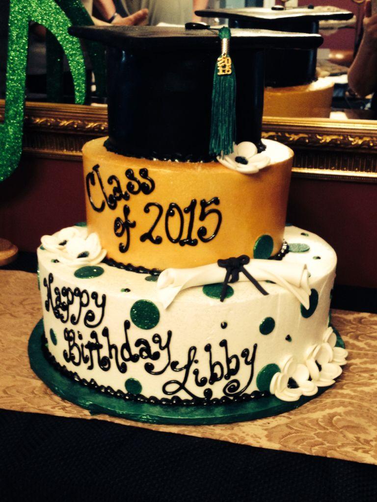 Pleasant Graduation And Birthday Cake Combined With Images Graduation Personalised Birthday Cards Beptaeletsinfo