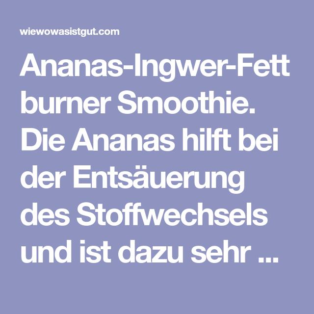 Ananas hilft Fett zu verbrennen
