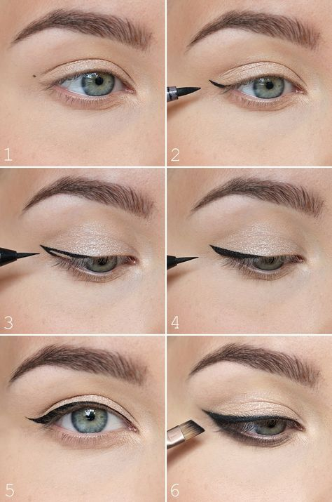 The most easiest way to do a winged eyeliner <3 - NUDE | Lily.fi