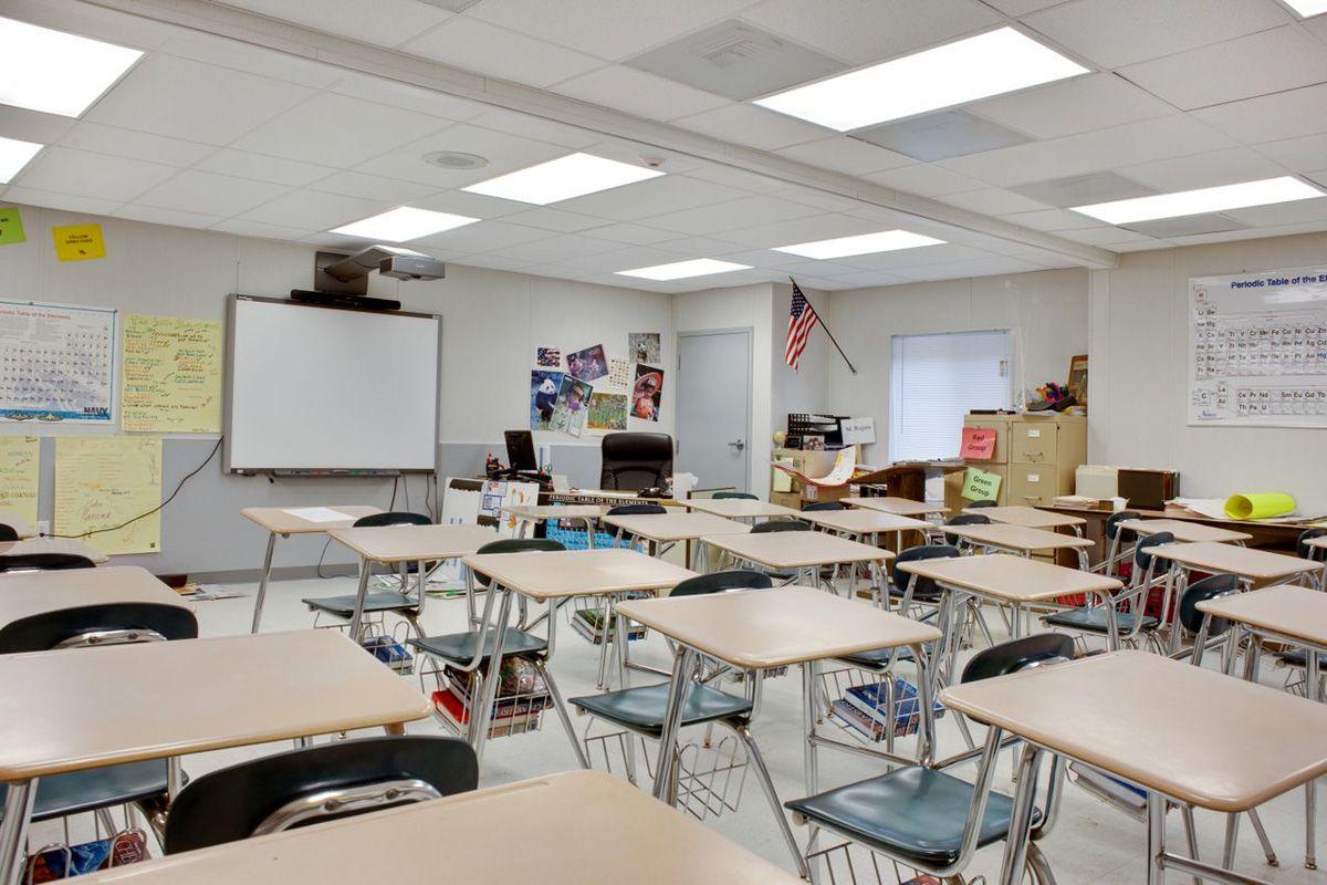 H C Wilcox Technical School Interior Classroom Desks