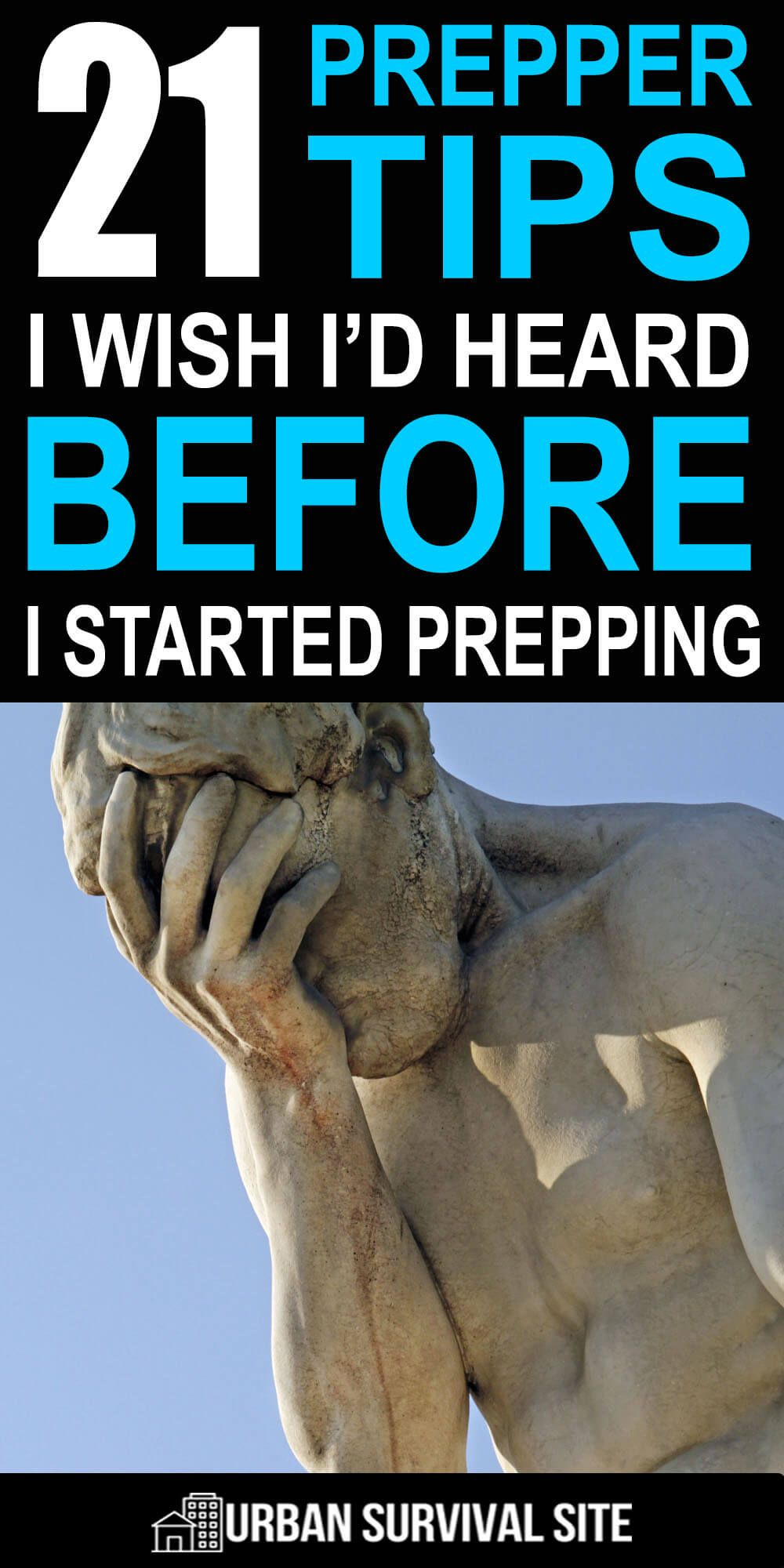 Don't waste your time repeating the same mistakes others have made. Instead, read this list of prepper tips I wish I'd heard before I started prepping. #urbansurvivalsite #prepper #prepping #survivaltips #preparedness