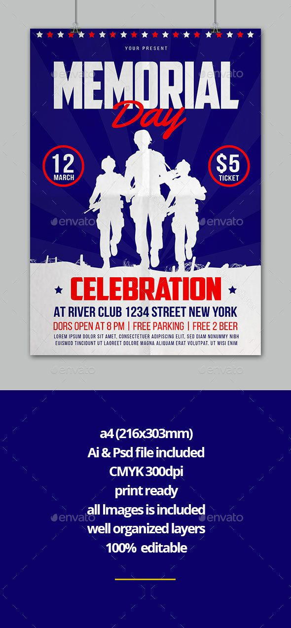 pin by best flyer designs on memorial day flyer design pinterest