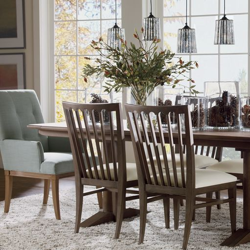 Sayer Dining Room By Ethan Allen  Modern Vibe For Casual Dining