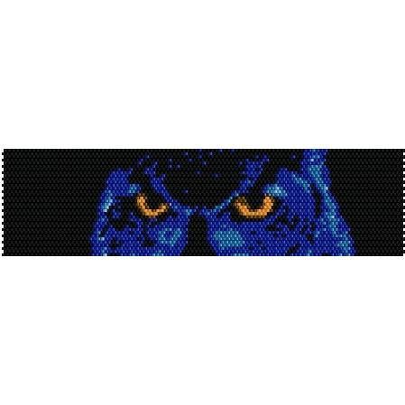 Midnight Owl  beading cuff bracelet pattern for peyote by garbanke, $4.00