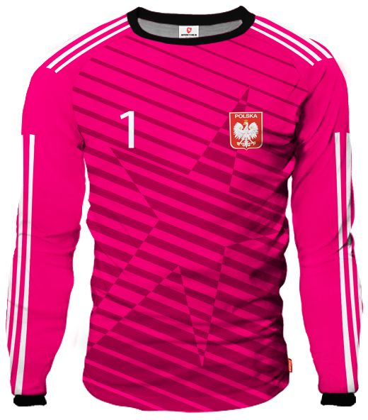 dc9020ed29f69 LIGA REAL Goalkeeper Jersey With Custom Name And Number pink ...