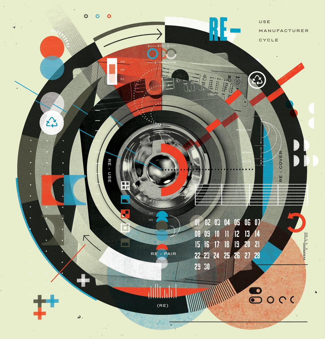 WIRED Illustration on Circular Economics. | Contemporary | Layout ...