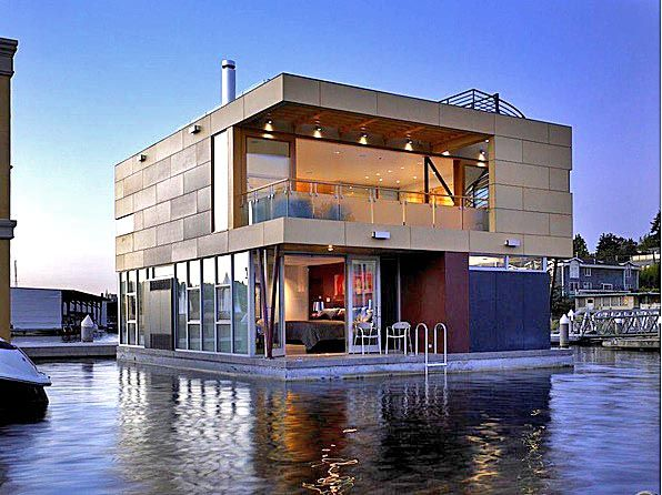 9 Outrageous Floating Homes For Sale Floating House Floating
