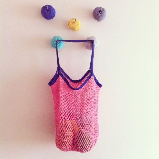 Patrón bolsa de red a ganchillo | ----BOLSOS ---- | Pinterest