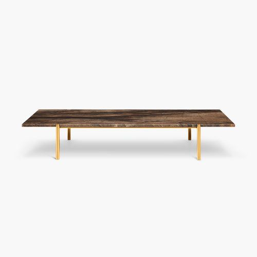 Christopher allen. marble brass coffee table