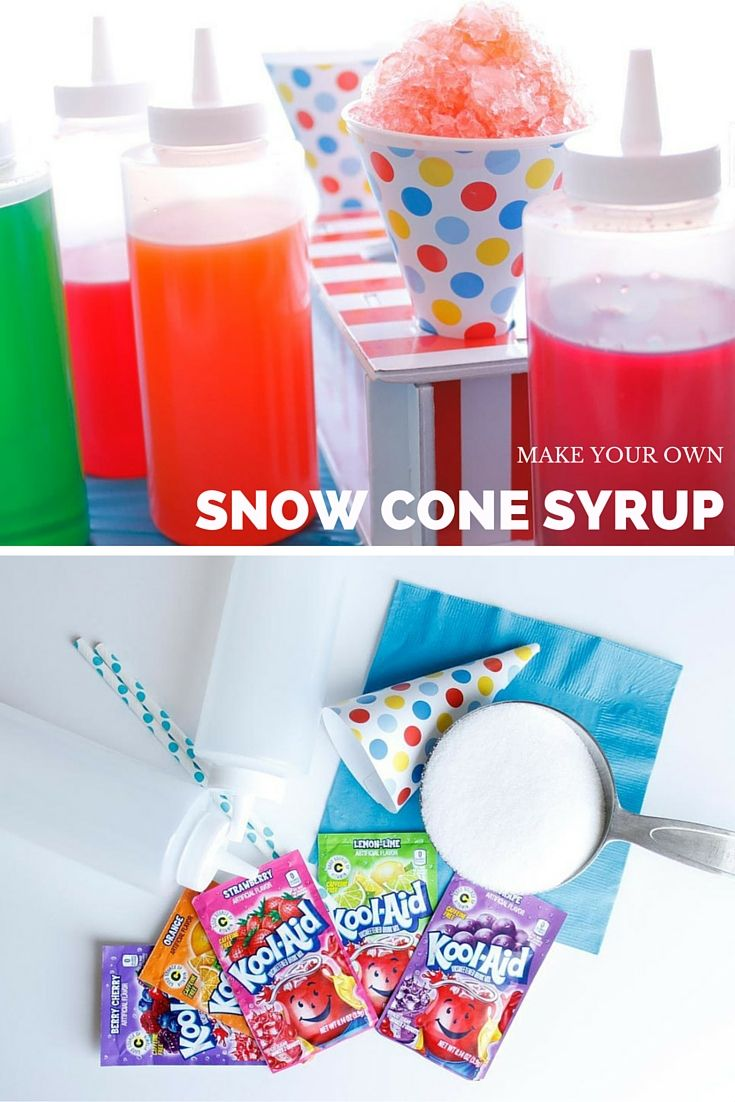 Homemade Wedding Cake Snow Cone Syrup